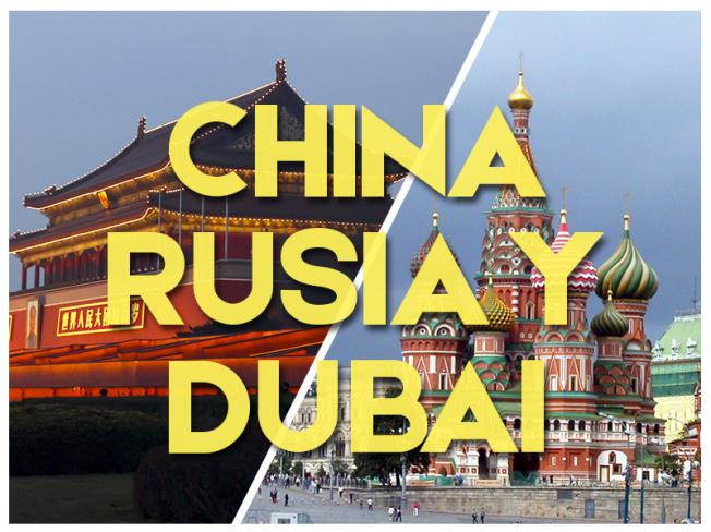 CHINA, DUBAI Y RUSIA - GRUPAL 2018